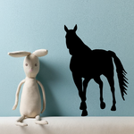 Approaching Stallion Silhouette Decal