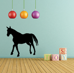 Trotting Stallion Silhouette Decal