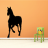 Approaching Handsome Horse Silhouette Decal