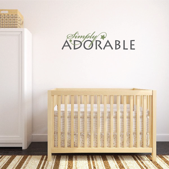 Simply Adorable Wall Decal