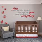 First we had each other Printed Die cut Decal
