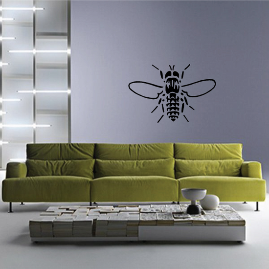Wings Spread Bee Decal
