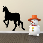 Handsome Horse Walking Away Silhouette Decal