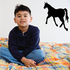 Walking Away Horse Silhouette Decal