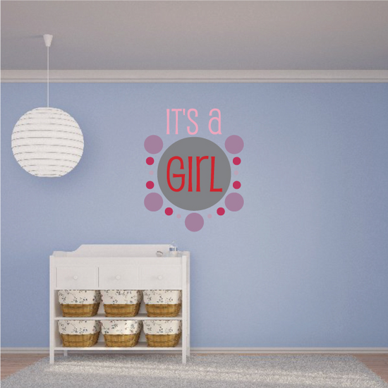 It's a Girl Decal