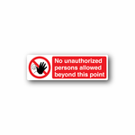 NO Safety Sign Wall Decal - Vinyl Sticker - Car Sticker - Die Cut Sticker - CD084