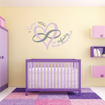I Love You To Infinity and Beyond Wall Decal