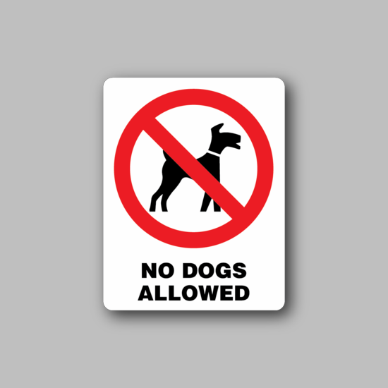 NO Dogs Sign Wall Decal - Vinyl Sticker - Car Sticker - Die Cut Sticker - CD003