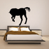 Away Bowing Horse Silhouette Decal