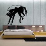 Angry Kicking Horse Decal