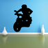 Simple Guy Riding Scooter Decal