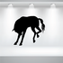 Angry Horse Kicking Silhouette Decal