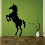 Mighty Standing Horse Silhouette Decal