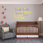 Twinkle Twinkle Little Star Printed Die Cut Wall Decal