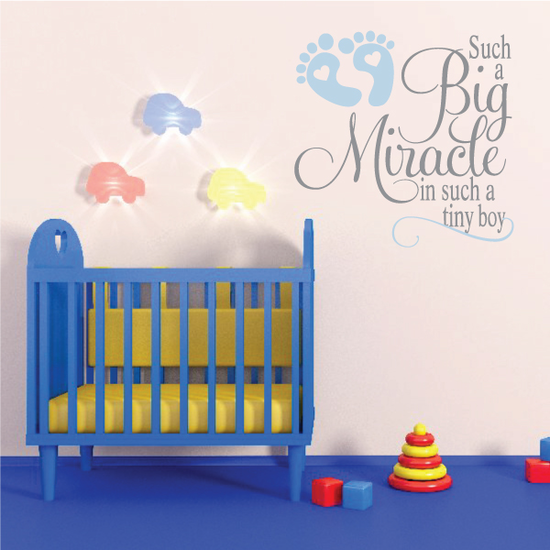 Such a Big Miracle in such a tiny Boy Wall Decal