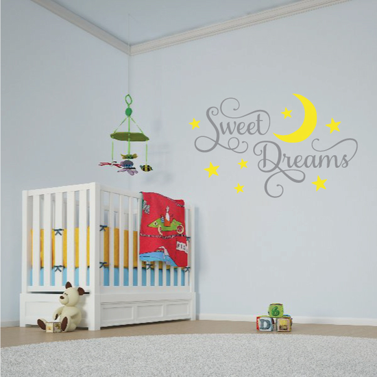 Sweet Dreams Moon Wall Decal
