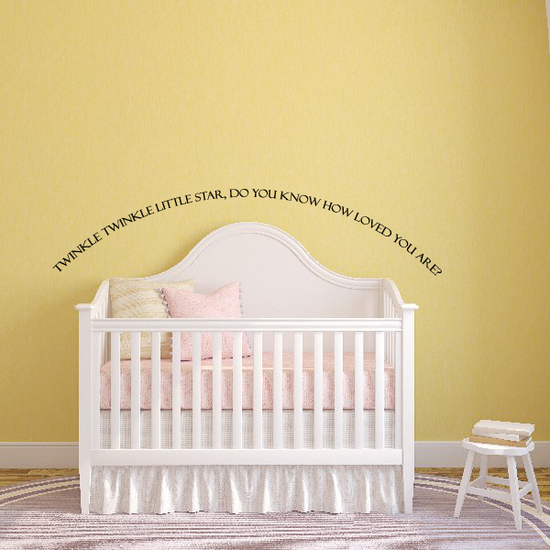 Do You know how loved you are Wall Decal