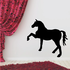 Fancy Trotting Horse Silhouette Decal