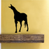 Approaching Curious Horse Silhouette Decal