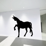 Side Curious Horse Silhouette Decal