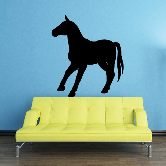 Pausing Horse Silhouette Decal