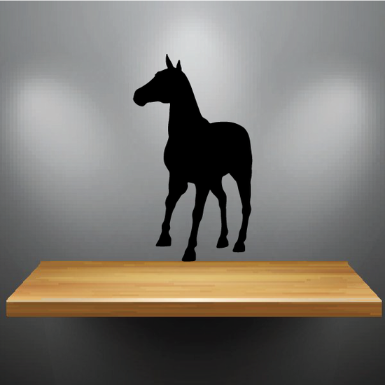 Thinking Horse Silhouette Decal