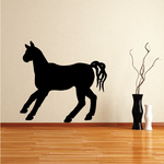 Pausing Look Horse Silhouette Decal