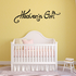 Heavens Gift Wall Decal