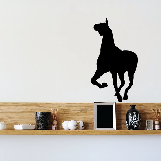Charming Sprinting Horse Silhouette Decal