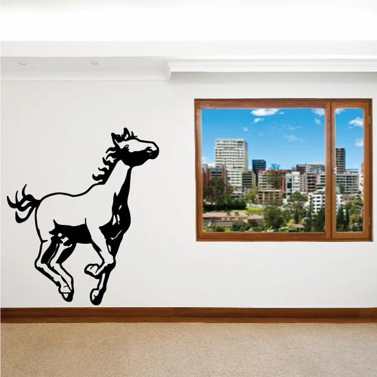Hopping Pony Decal