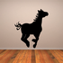 Hopping Pony Silhouette Decal