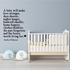 A Baby Will Make Love Stronger Days Shorter Nights Longer Wall Decal