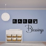Baby Blessings Wall Decal