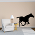 Darting Pony Silhouette Decal