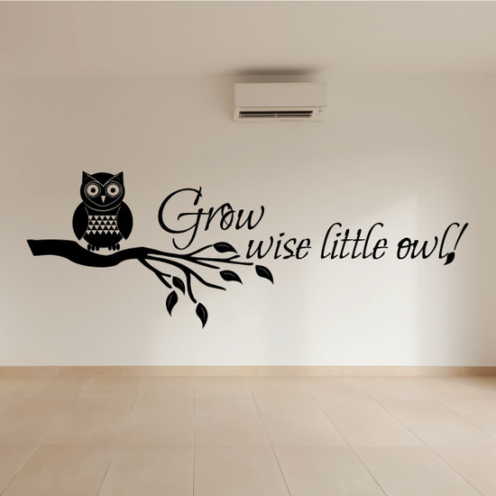 Grow Wise Little Owl Wall Decal