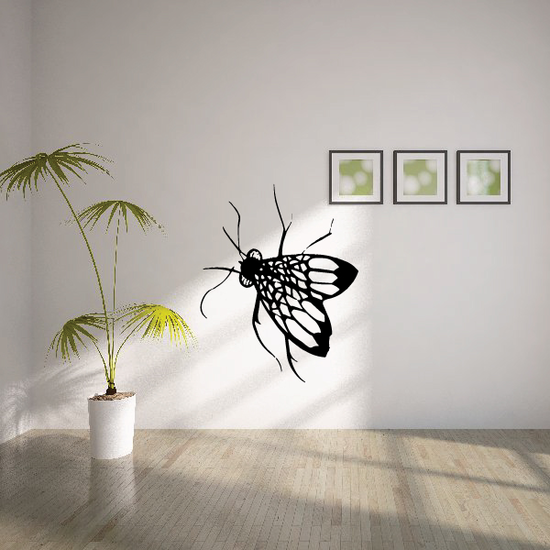 Fly Hidden in Leaves Decal