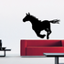 Noble Running Pony Silhouette Decal