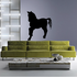 Fancy Pony Pose Silhouette Decal