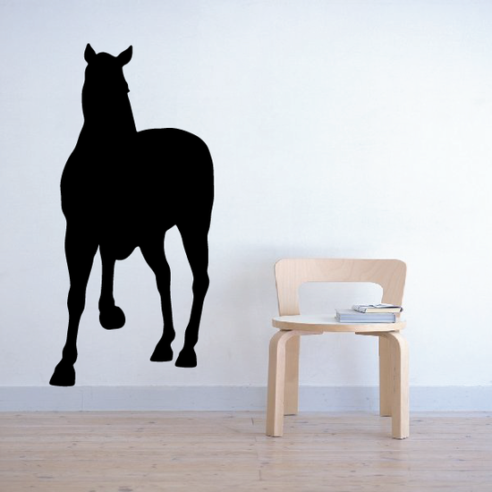 Shy Pony Pose Silhouette Decal