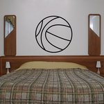 Basketball Outlined Decal