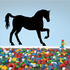 Side Triumphant Horse Silhouette Decal