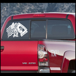 Minuteman and Flags Decal