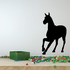 Approaching Pony Silhouette Decal