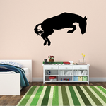 Horse Jumping Over Decal