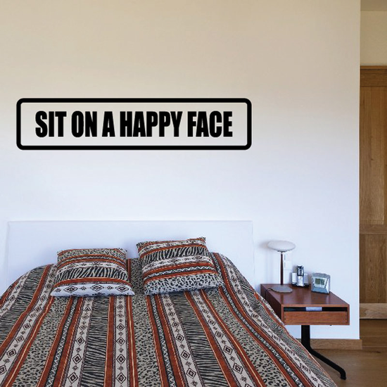 Sit on a happy face Decal