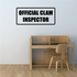Official clam inspector Decal