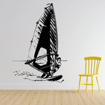 Detailed Male Windsurfer Decal