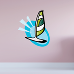 Sailboat Wall Decal - Vinyl Sticker - Car Sticker - Die Cut Sticker - CDSCOLOR031