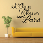 I Have Found the One Whom My Soul Loves Decal