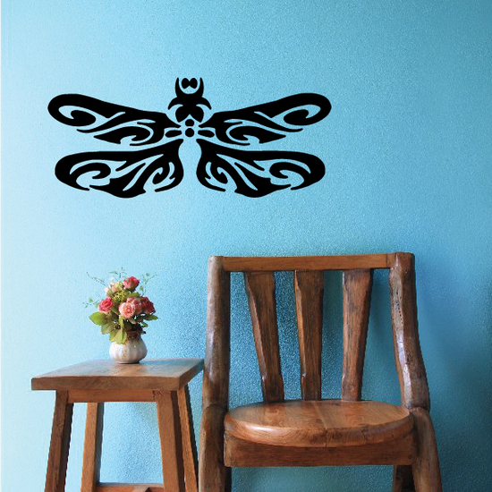 Tribal Dragonfly Wings Decal